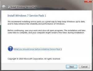 Services Pack 1 para Windows 7