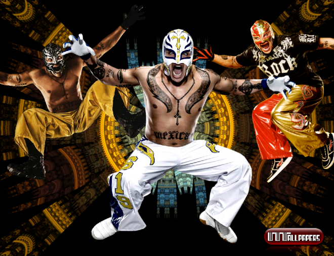 Rey Mysterio Wallpaper/ Cortesia de wwewrestlingwallpapers