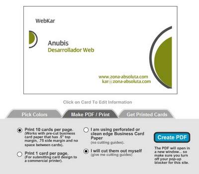 crear tarjetas de presentación gratis online