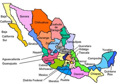 lista de los estados de la republica: