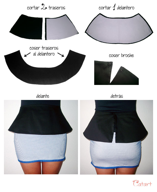 Mis puntadas preferidas: Cinturón peplum para faldas o pantalones