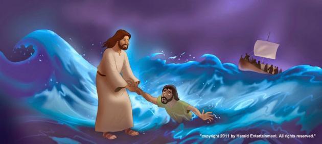 Resultado de imagen para imagenes de jesus camina sobre las aguas para niños